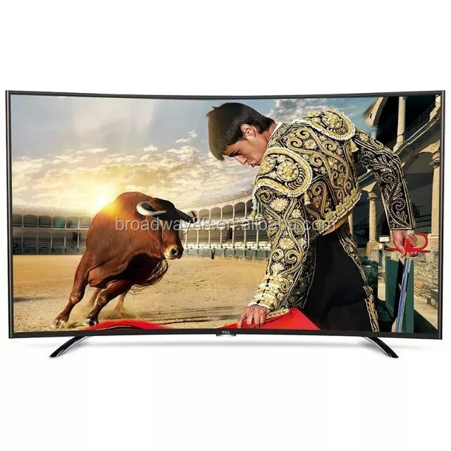"55 inch 3840*2160P 4K UHD Android Smart LED television/55"" 4K Curved TV with 1*SD card and 2* USB interface support WIFI"