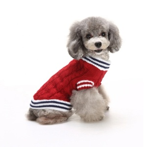 Fashion red sweaters winter knit costumes heart dog clothes pet apparel animal clothing