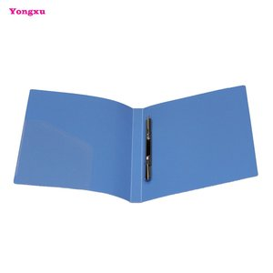 Customizing high quality plastic PP metal folders with spring clips A4 office folders