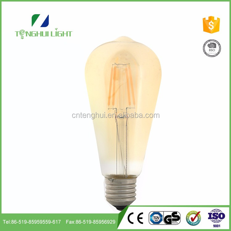 new popular Glass+Aluminum st64 decoration bulb with top quality