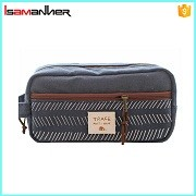 Multi-function fashion canvas pencil bag factory wholesale pencil case
