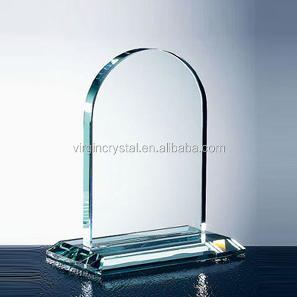 Dome Jade Glass Awards Promotional Glass Trophy