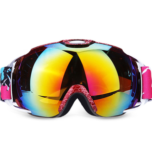 Fashion safety snowboarding goggles with silicon high quality custom logo strap snowboard ski goggles