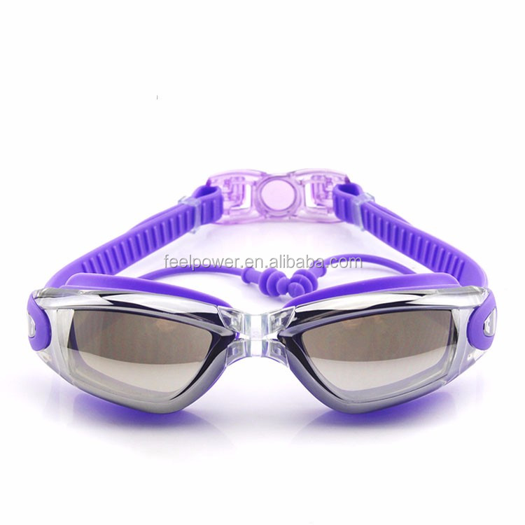 Large Frame Comfortable Luxury Best Swimming Goggles with Earplug