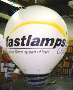 Floating custom lamp bulb inflatable sky balloon with LED light H4101