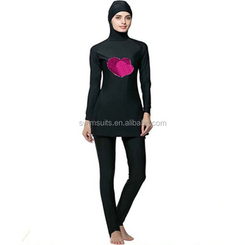 e96c1a27aef39 Good fit Islamic full covered swimming suit modest muslim bathing suit Two  Piece swimming suit with