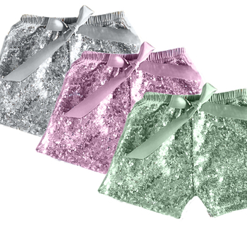 Baby Girls Cotton Summer Shorts With Sequin Kids Wear Wholesale girl Boutique Girl Shorts