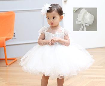 Ns0879 Vestidos Para Chica De Verano 1 Año Cumpleaños Princesa Bebé Niña Vestido De Bebé Bautizo Vestido De Bautismo Para El Recién Nacido Vestido