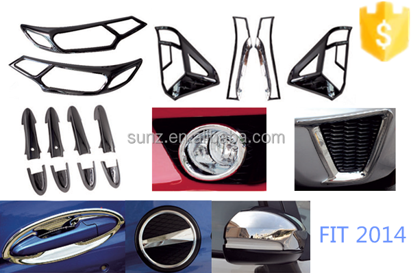 New small car chrome accessory for HONDA FIT 2014-full chrome kits decorative accessories