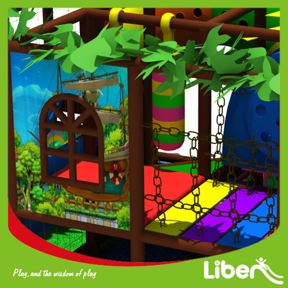 Jungle Themed Happy Indoor Play Area for Kids 3-12 Years Old