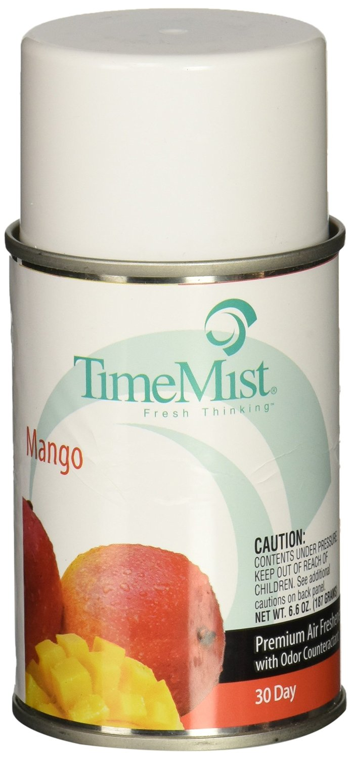 TimeMist 1042810EA Metered Fragrance Dispenser Refill, Mango, 6.6oz, Aerosol
