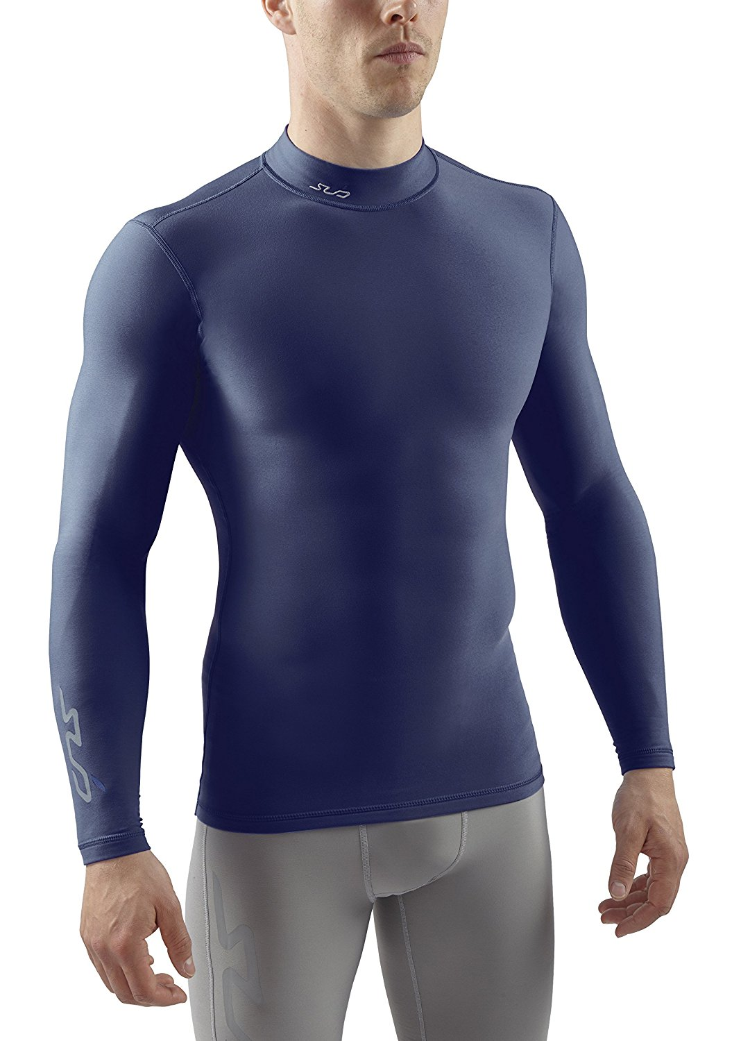 Sub Sports Mens Winter Warm Vest Mock Turtle Neck Long Sleeve Thermal Base Layer
