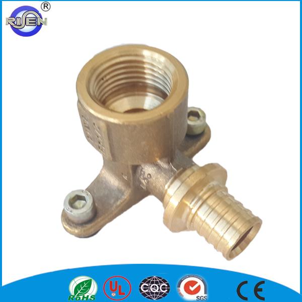 Good price lpg galvanized brass tee compression fitting