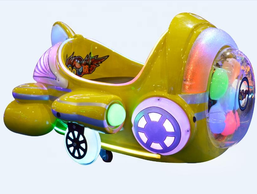 Playground indoor kiddie Airplane Ride corpo de fibra de vidro eletry bateria recarregável sistema Led com Música MP3