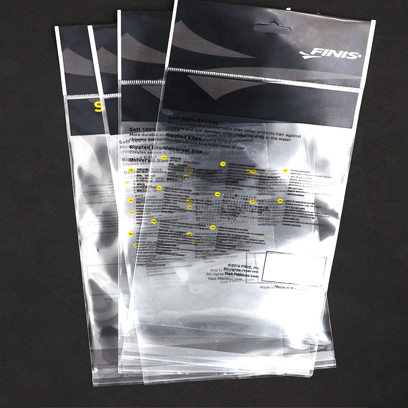 Black Print Hanging Header Transparent Opp Plastic Bag With Self Adhesive  Strip From Guangdong China - Buy Opp Plastic Bag,Transparent Self Adhesive