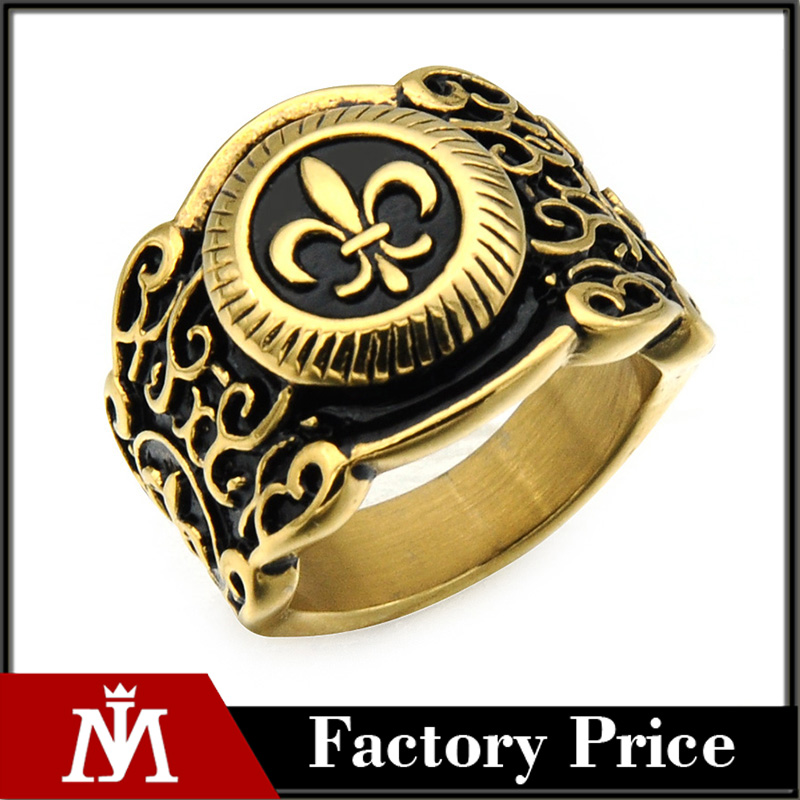Custom Made 3d Design Mens Gold Wedding Ring Designs Stainless Steel Hip Hop Jewelry