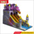 Fun design commercial grade air bouncy dragon slide inflatable castle slide for children