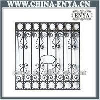 decorative wrought iron window grill design