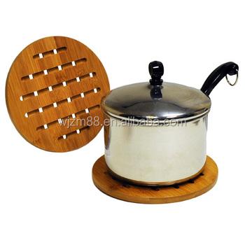 Whole Bamboo Trivets Set Kitchen Hot Pot Stand Pad