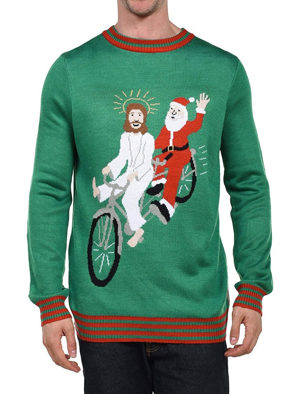 New funny christmas sweater ugly xmas christmas sweatshirt men's naked printing
