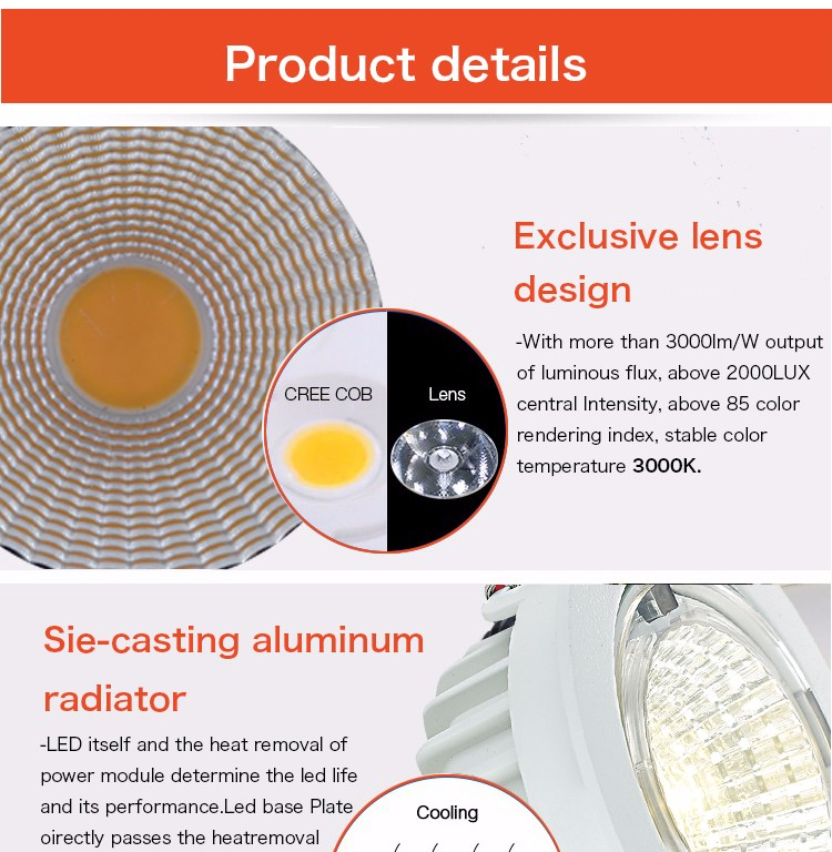 led downlight 10w, rgbw ip65 led downlight dimmable ,dimmable led downlight