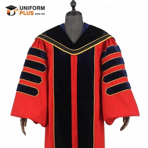Customized doctoral Phd graduation gowns and caps with hoods
