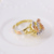 11381 Alibaba Online Shopping Multicolor Gold Three Color Plating Alloy Ring