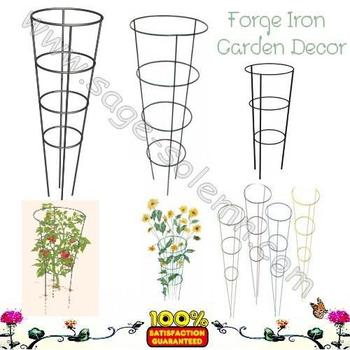 China Manufacture Powder Coated Strong Wire Cone Tomato Cage/tomato ...