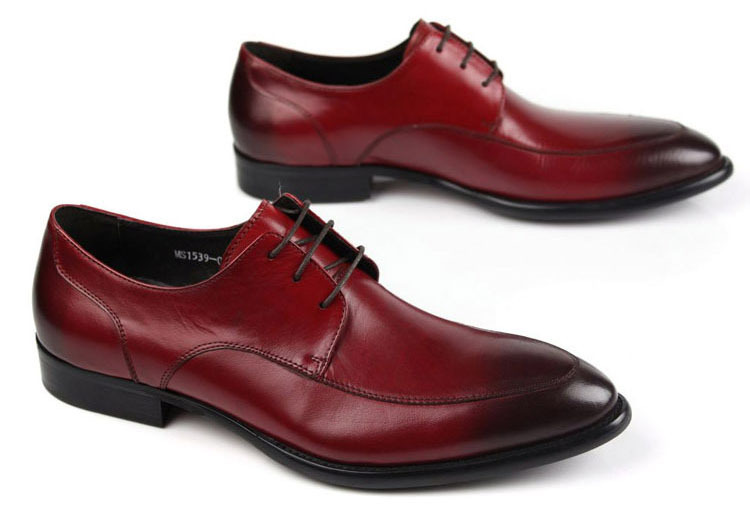 New 2015 italian fashion brand designer men dress genuine leather shoes comfortable solid lace up wedding for men OX179