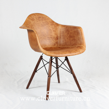 Clover Furniture Industrial Chairs Luxury Waxy Leather
