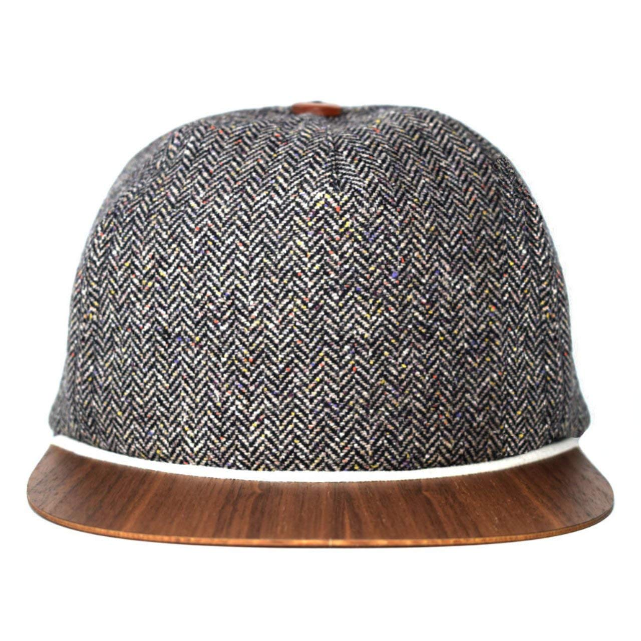 7e6ea6cade7 Get Quotations · Tweed Cap with unique wooden brim - Made in Germany - Wool  hat - Light