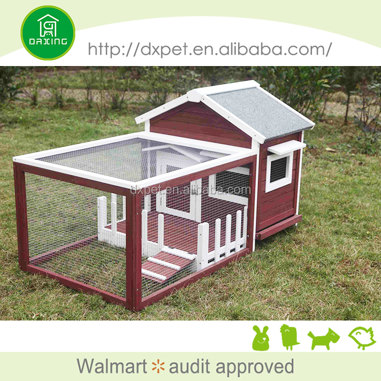 Double Storey Rabbit Hutch with Run Guinea Pig Ferret Cage
