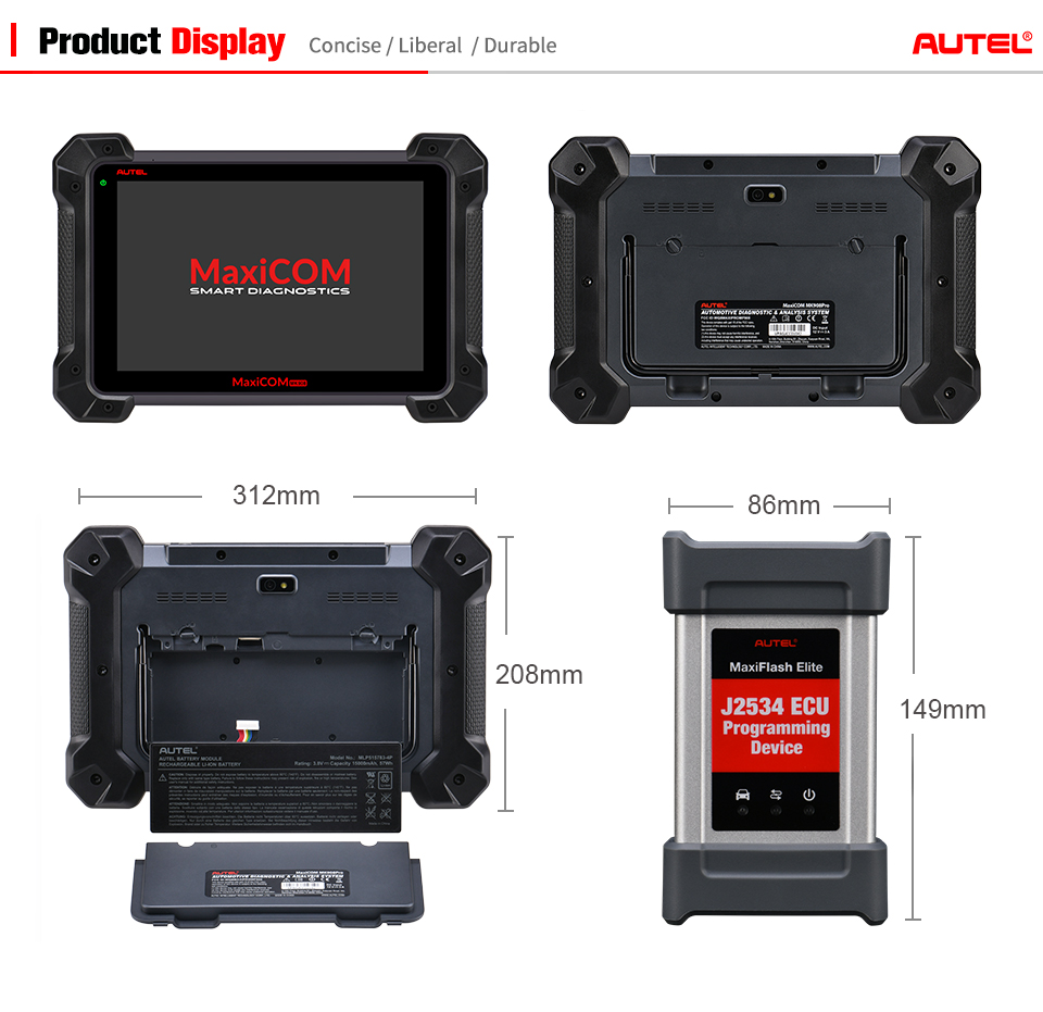 Autel MK908P Updated Autel Maxisys Pro MS908P ECU Programming Tool Vehicle Diagnostic Machine With 15 languages for All Cars