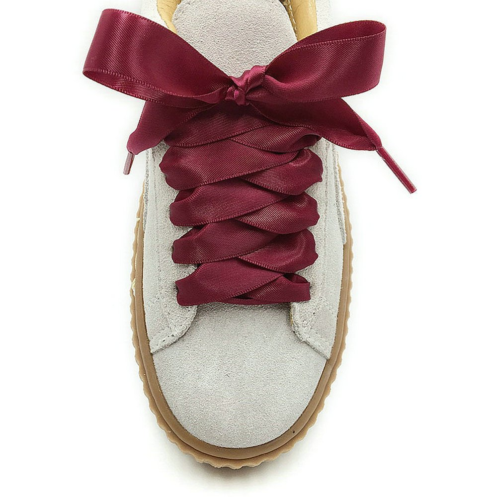 3c33e01292ce76 Wine Red Satin Ribbon Shoelaces Oxblood Bootlaces Cute Corses Stripes Shoe  Laces Boho Hobo Riband Shoestrings