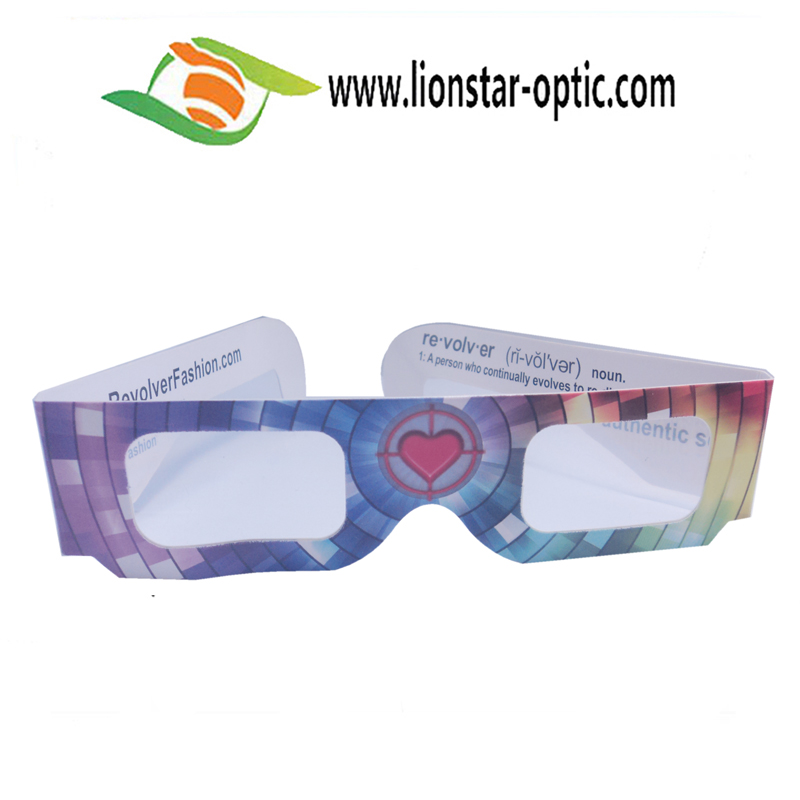 Customized Printing Paper 3D Fireworks Glasses Cheap Heart, Fireworks Christmas Tree, Snowman