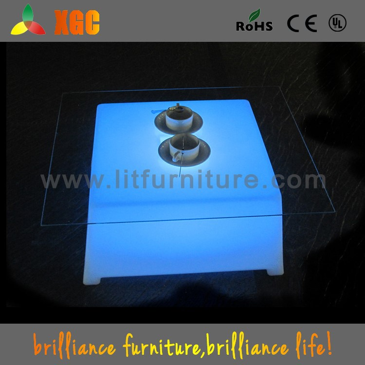 cyber cafe furniture table led mini table for cafe GF316
