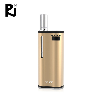 Newest vaporizer 5SVV ceramic cartridge vape pen 2 in 1 box mod for wax and oil