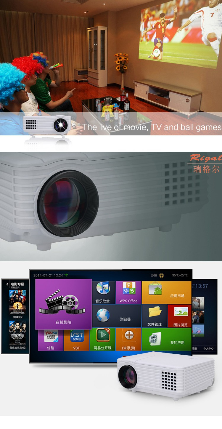 rd-805 1080p home cinema digital projector with HDMI input