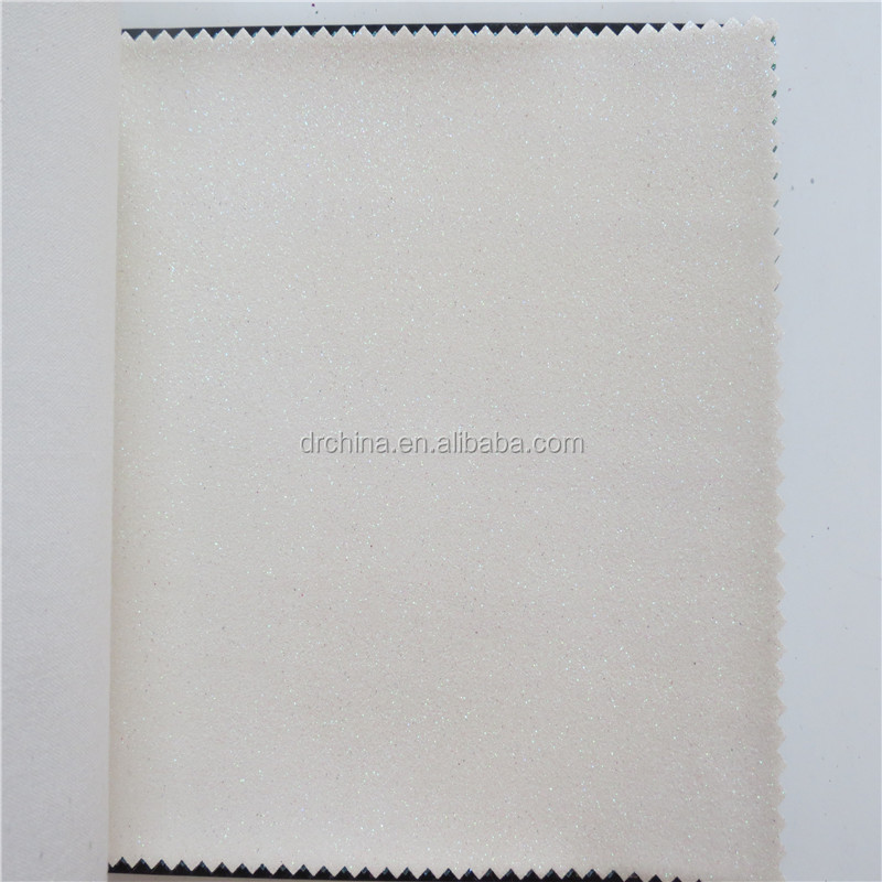 Hot Vente Pas Cher Derun Blanc Etincelle Paillettes Papier Peint En