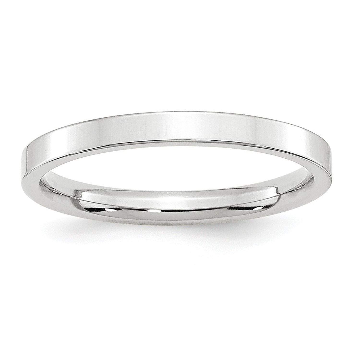 Jewelry Best Seller 14KW 2.5mm Standard Flat Comfort Fit Band Size 8
