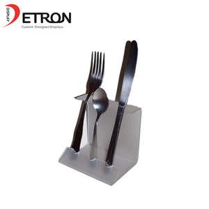 Transparent Acrylic Cutlery Tableware Holder Counter Display