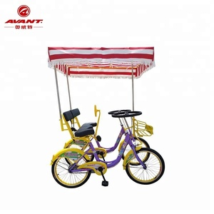 Best-selling factory outlet 2-person surrey sightseeing tandem bike