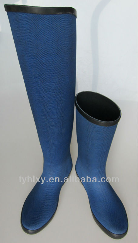 2014 Blue Thigh High Cheap Ladies Gumboots - Buy Cheap Ladies ...