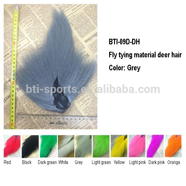 Grey color Fly tying material Bucktail for tying