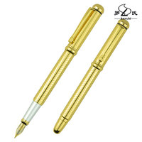 Wholesale classic Luoshi high quality heavy luxury metal fountain pen made with copper