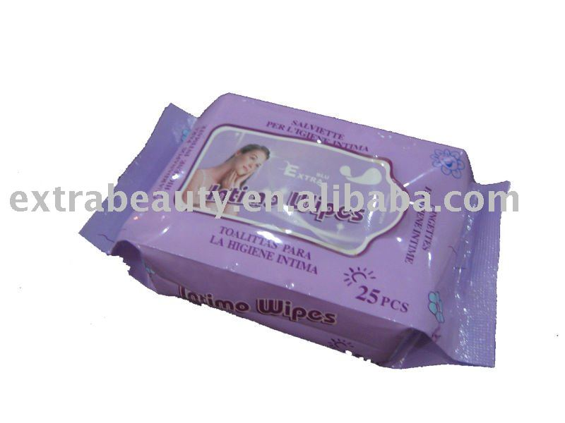 feminine wet wips 25ct (intimate wipes)