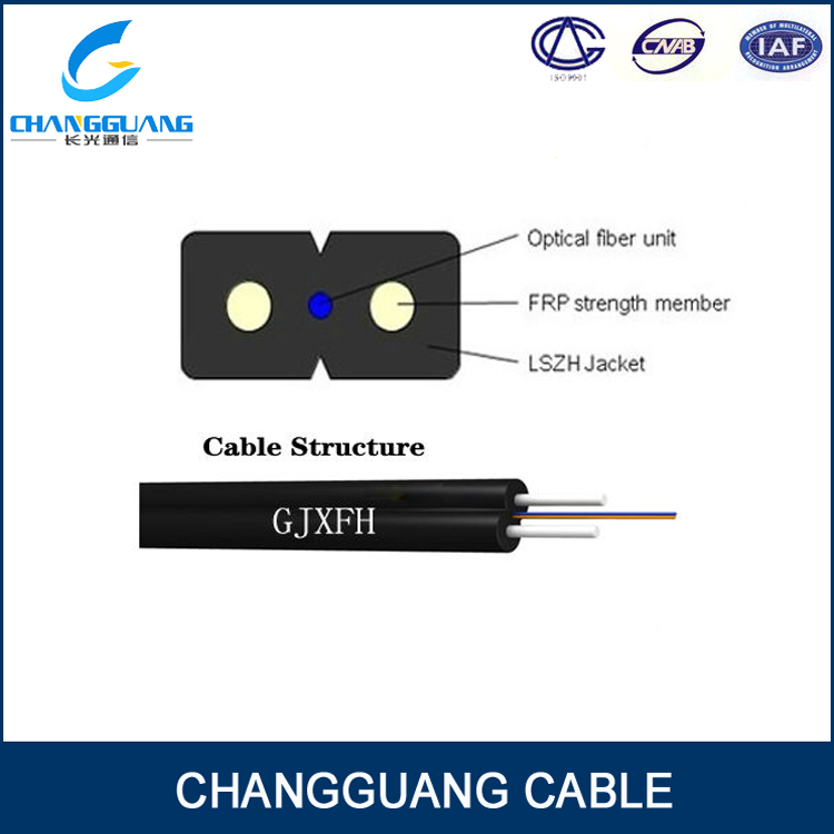 FTTH Drop Fiber Optic Cable Steel 1/2/4 Core Optical Fiber FTTH Cable To The Home
