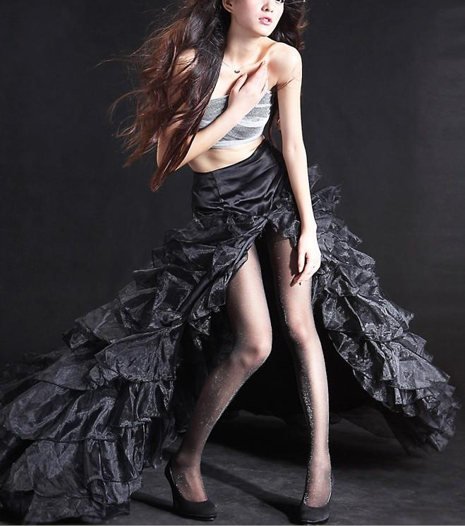 Женщин сексуальный само ядро - скрученный пряжа ультра-дешевый тонкий колготки колготки черный матрица золото проволока и Yinsi