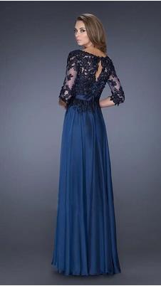 timeless design 30cd3 c702f Abito da sera blu lungo – Vestiti da cerimonia