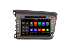 Car Radio Double 2 din Car DVD Player GPS Navigation In dash Car PC Stereo Head Unit for Honda Civic left 2012 - 2015